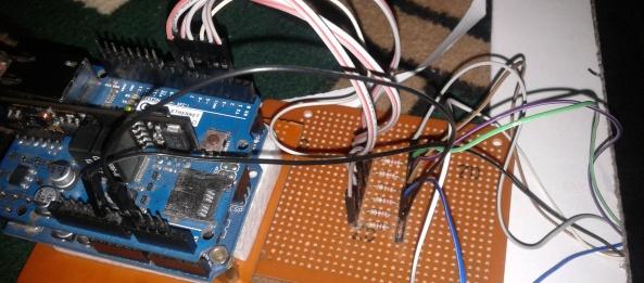 Mengendalikan lampu led melalui internet web arduino